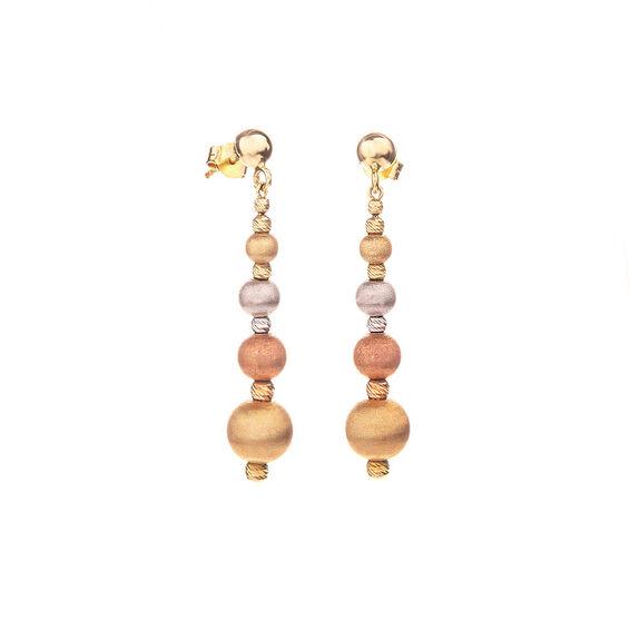 Mücevher Dünyası - 14 Ayar Renkli Dorika Altın Küpe