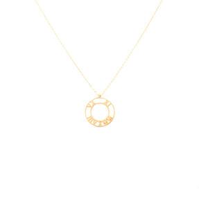 Mücevher Dünyası - 14 Ayar Roma Rakamlı Halka Altın Kolye
