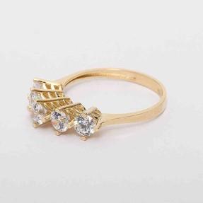 - 14 Ayar Sarı Beştaş Altın Yüzük | Mücevher Dünyası