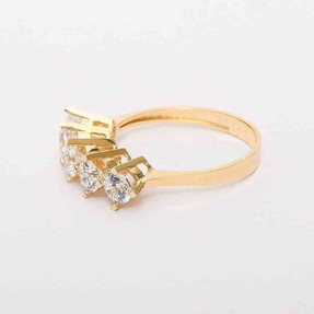 Mücevher Dünyası - 14 Ayar Sarı Beştaş Altın Yüzük | Mücevher Dünyası