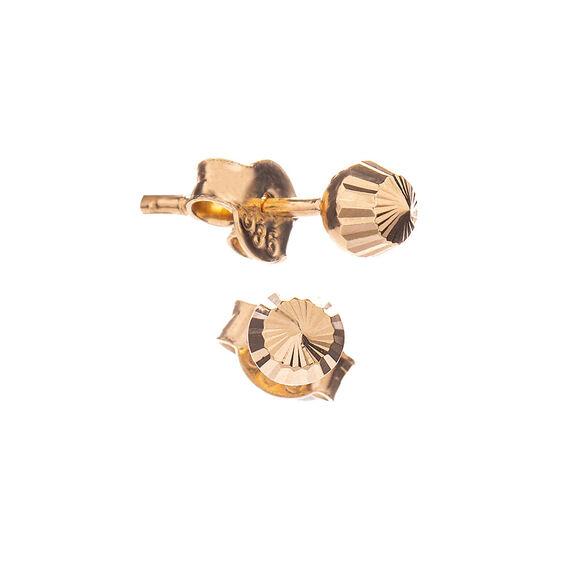 Mücevher Dünyası - 14 Ayar Şık Tasarım Altın Küpe