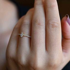 Mücevher Dünyası - 14 Ayar Sırataşlı Altın Yüzük | Mücevher Dünyası