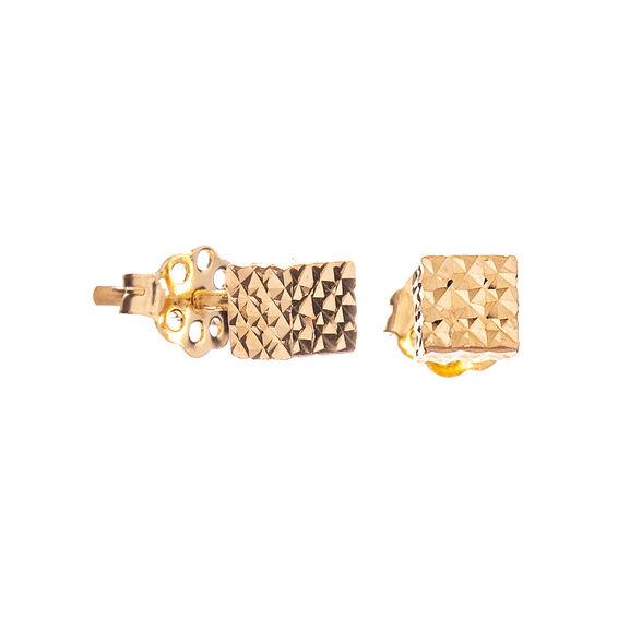 Mücevher Dünyası - 14 Ayar Tasarım Küp Altın Küpe