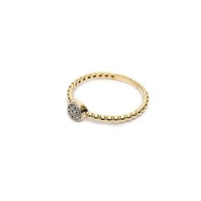 Mücevher Dünyası - 14 Ayar Taşlı Altın Eklem Yüzük