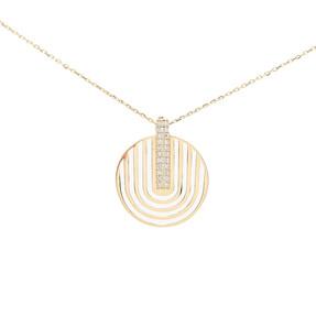 Mücevher Dünyası - 14 Ayar Taşlı Altın Kolye | Mücevher Dünyası