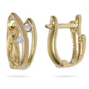 - 14 Ayar Taşlı Altın Küpe | Mücevher Dünyası