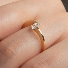 Mücevher Dünyası - 14 Ayar Taşlı Altın Yüzük - 13