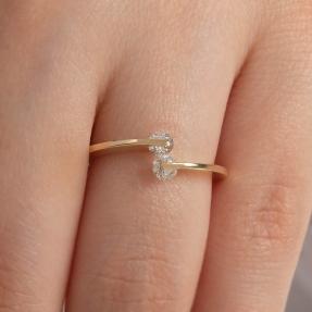 Mücevher Dünyası - 14 Ayar Taşlı Altın Yüzük - 13 (1)