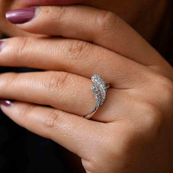Mücevher Dünyası - 14 Ayar Taşlı Altın Yüzük   Mücevher Dünyası