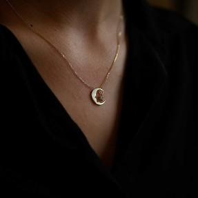 Mücevher Dünyası - 14 Ayar Taşlı Atatürk Ay Yıldız Altın Kolye