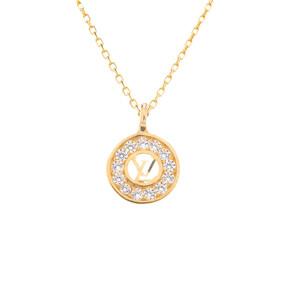 Mücevher Dünyası - 14 Ayar Taşlı Çember Altın Kolye