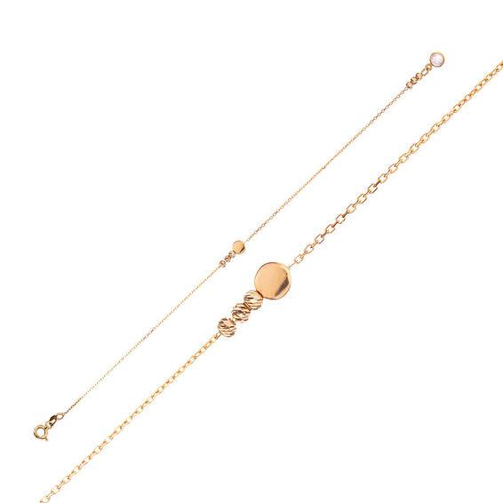 Mücevher Dünyası - 14 Ayar Taşlı Dorika Altın Bileklik - 17 Cm.