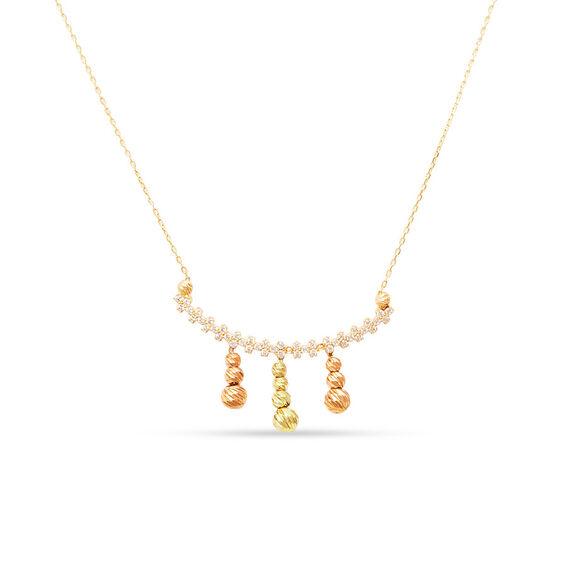 Mücevher Dünyası - 14 Ayar Taşlı Dorika Altın Kolye