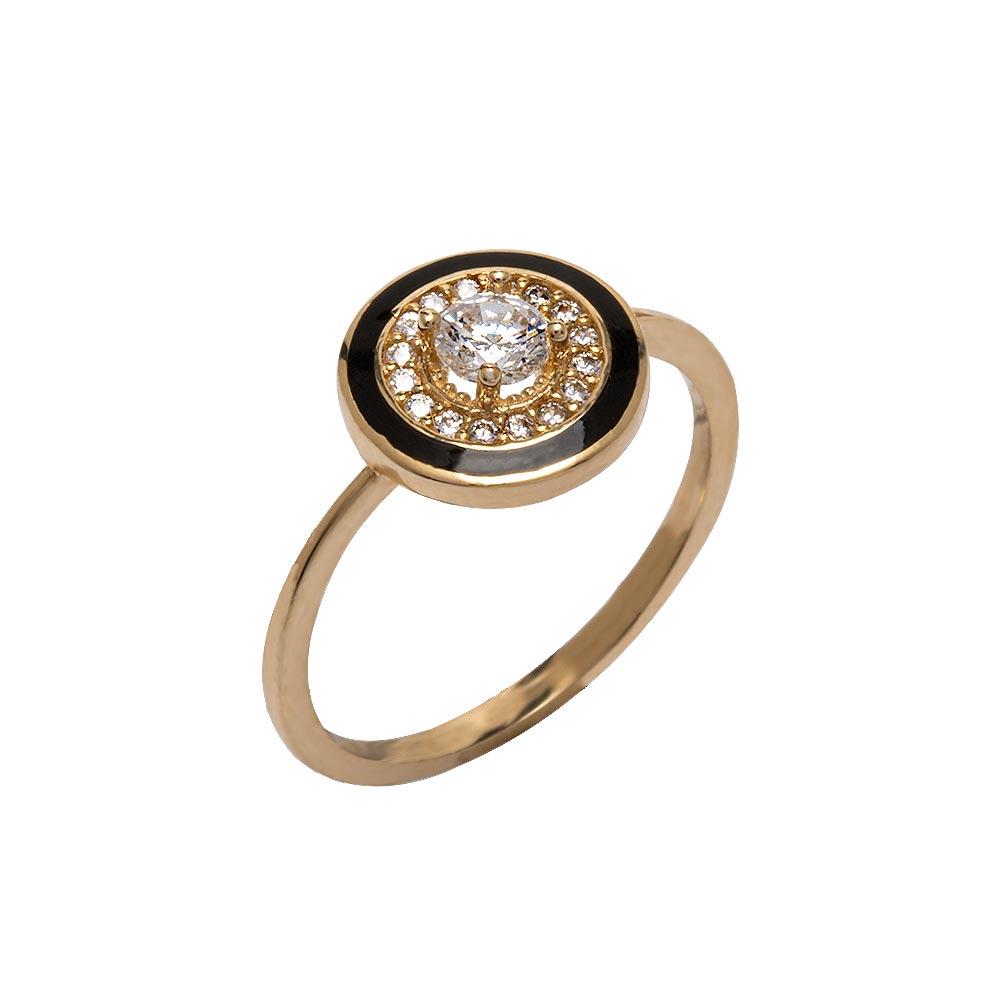 Mücevher Dünyası - 14 Ayar Taşlı Halka Altın Yüzük