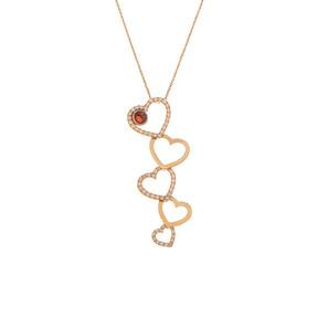 Mücevher Dünyası - 14 Ayar Taşlı Kalpli Altın Kolye