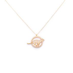 Mücevher Dünyası - 14 Ayar Taşlı Panter Figürlü Altın Kolye