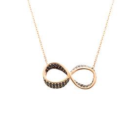 Mücevher Dünyası - 14 Ayar Taşlı Sonsuzluk Altın Kolye