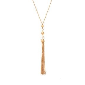 Mücevher Dünyası - 14 Ayar Toplu Püsküllü Altın Kolye