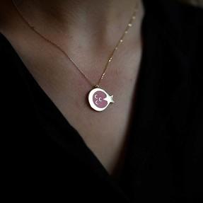 Mücevher Dünyası - 14 Ayar Üç Hilal Ay Yıldız Altın Kolye