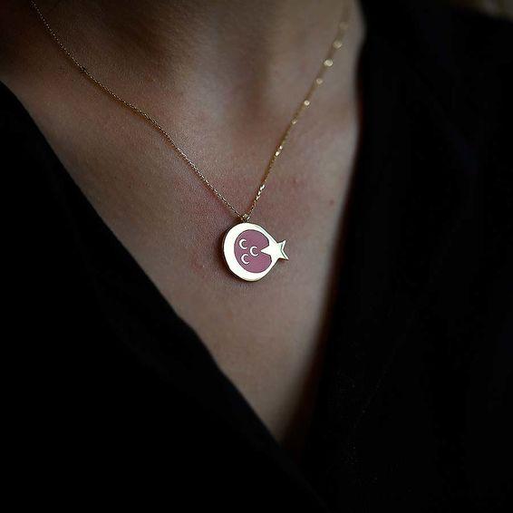 Mücevher Dünyası - 14 Ayar Üç Hilal Ayyıldız Altın Kolye