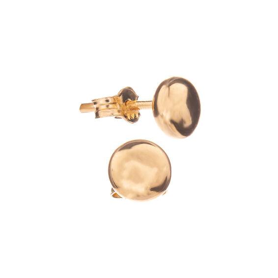 Mücevher Dünyası - 14 Ayar Yuvarlak Altın Küpe