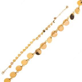 Mücevher Dünyası - 14 Ayar Halkalı Altın Bileklik