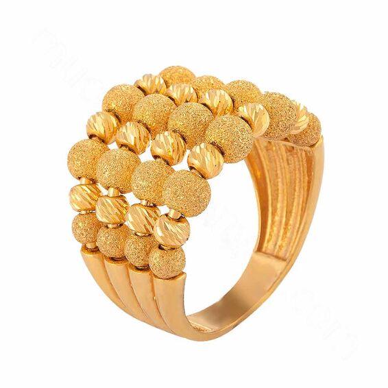Mücevher Dünyası - 22 Ayar 5 Kollu Dorika Altın Fantezi Yüzük - 9,31 Gr.