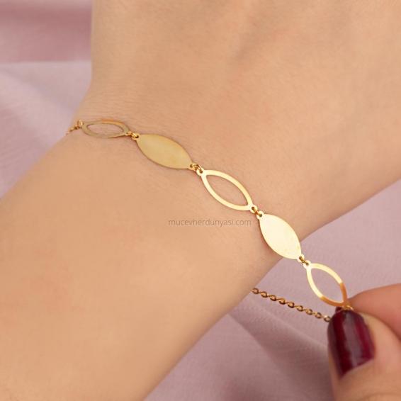 Mücevher Dünyası - 22 ayar Altın Bileklik - 2,17 Gr.
