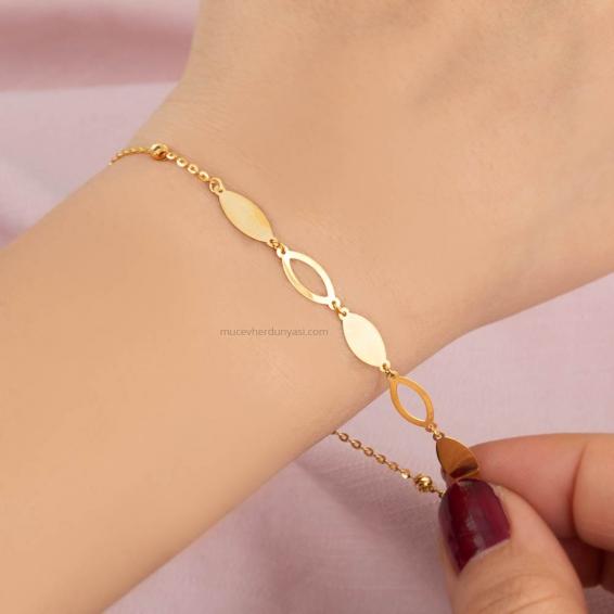 Mücevher Dünyası - 22 ayar Altın Bileklik - 2,27 Gr.