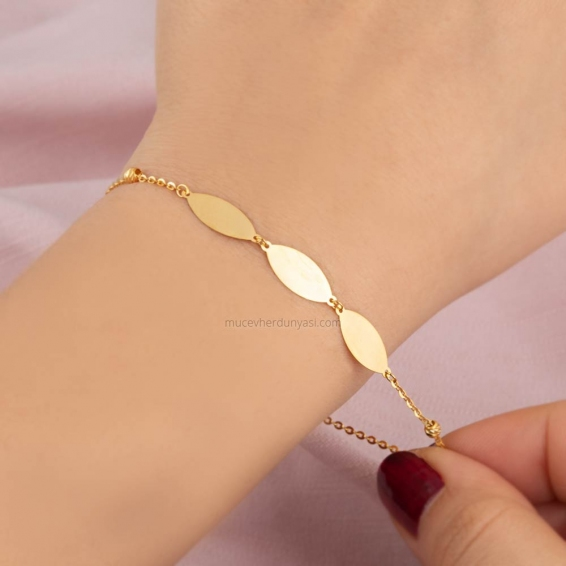 Mücevher Dünyası - 22 ayar Altın Bileklik - 2,36 Gr.