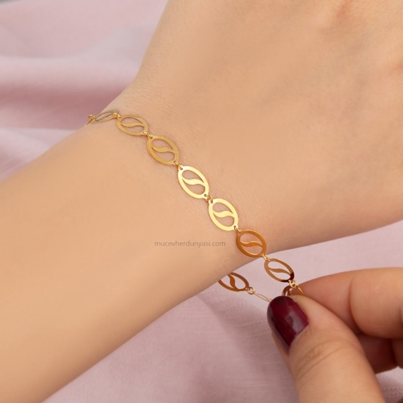 Mücevher Dünyası - 22 ayar Altın Bileklik - 2,58 Gr.