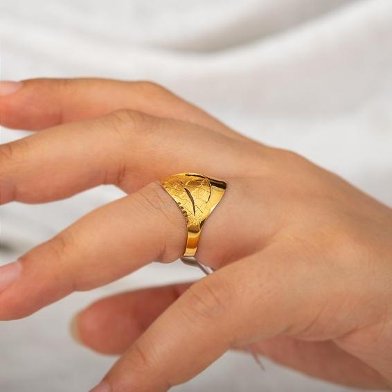 Mücevher Dünyası - 22 Ayar Altın Fantezi Yüzük - 2,74 Gr. - 16