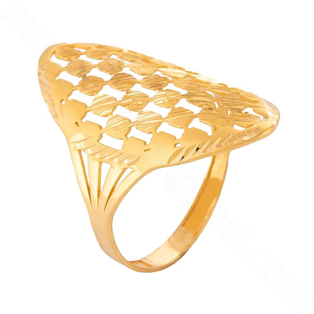 Mücevher Dünyası - 22 Ayar Altın Fantezi Yüzük - 3,06 Gr.