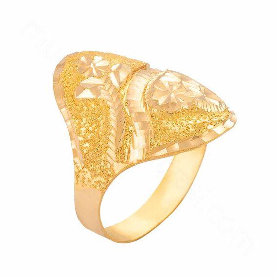 Mücevher Dünyası - 22 Ayar Altın Fantezi Yüzük - 3,26 Gr.
