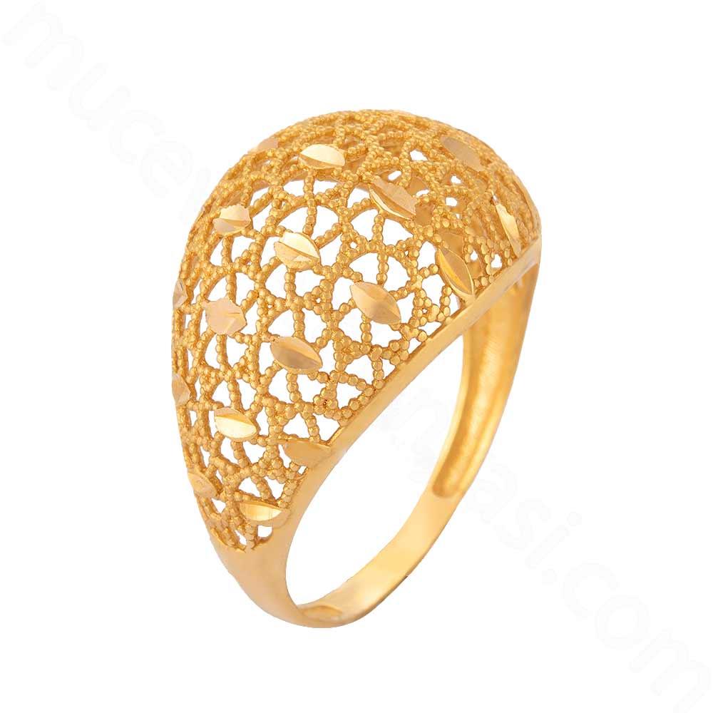 Mücevher Dünyası - 22 Ayar Altın Fantezi Yüzük - 3,43 Gr.