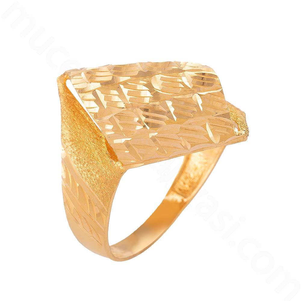 Mücevher Dünyası - 22 Ayar Altın Fantezi Yüzük - 3,93 Gr.