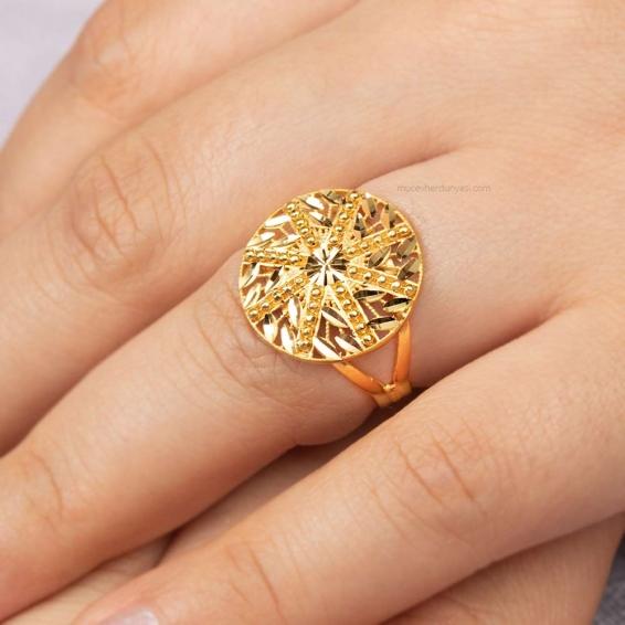 Mücevher Dünyası - 22 Ayar Altın Fantezi yüzük - 4,34 Gr. -17