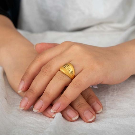 Mücevher Dünyası - 22 Ayar Altın Fantezi Yüzük - 4,44 Gr. - 16