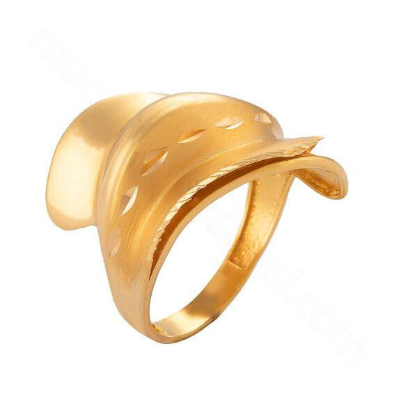 Mücevher Dünyası - 22 Ayar Altın Fantezi Yüzük - 5,60 Gr.