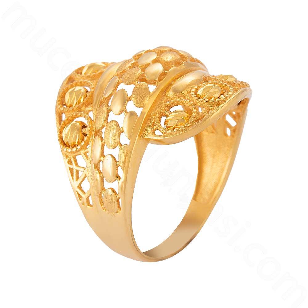 Mücevher Dünyası - 22 Ayar Altın Fantezi Yüzük - 6,05 Gr.