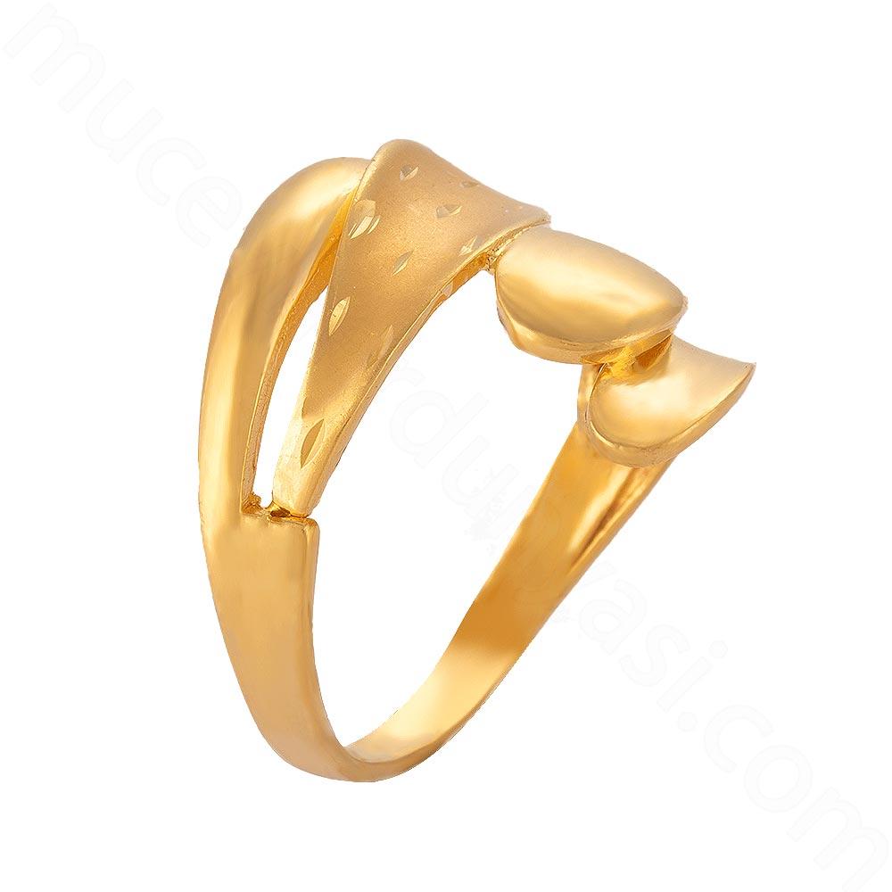 Mücevher Dünyası - 22 Ayar Altın Fantezi Yüzük - 6,28 Gr.