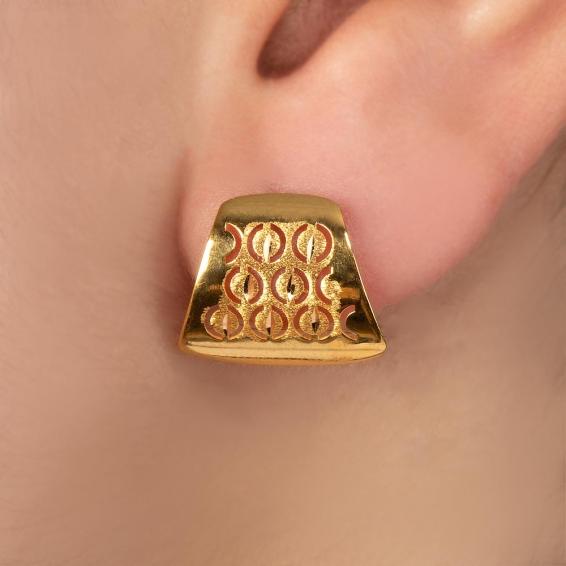 Mücevher Dünyası - 22 Ayar Altın Küpe - 2,11 Gr.