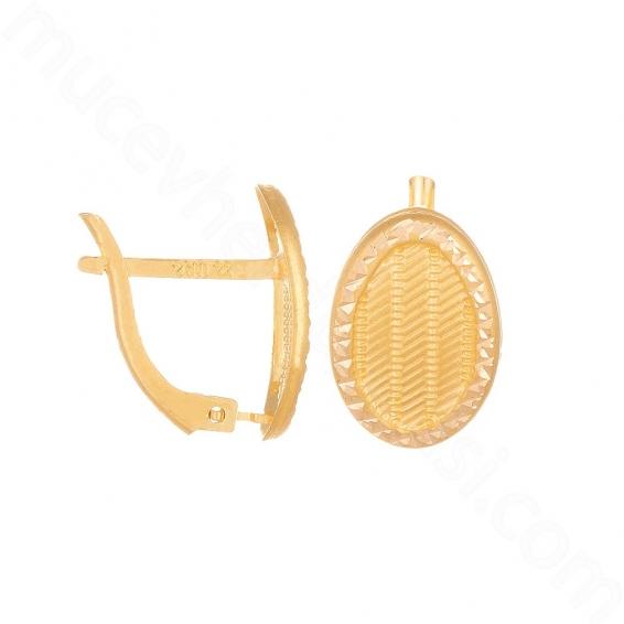Mücevher Dünyası - 22 Ayar Altın Küpe - 2,67 Gr.