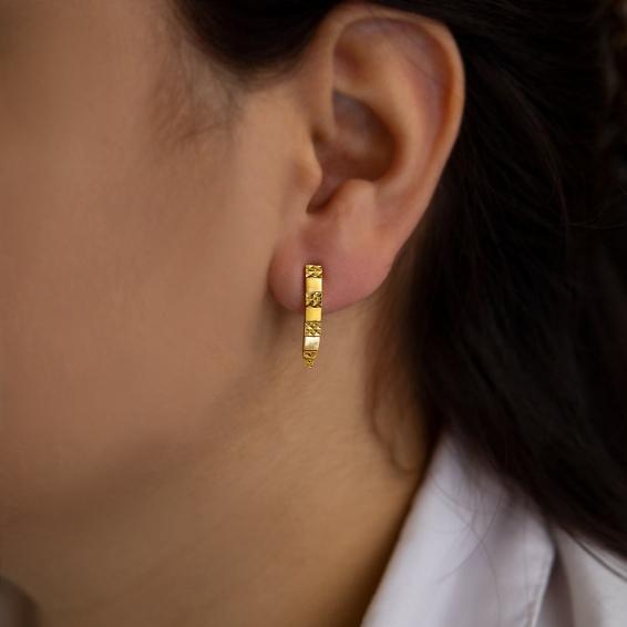Mücevher Dünyası - 22 Ayar Altın Küpe - 3,33 Gr.