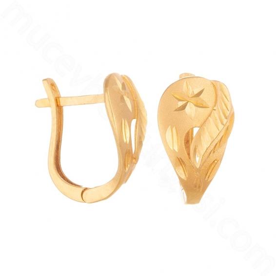 Mücevher Dünyası - 22 Ayar Altın Küpe - 3,4 Gr.