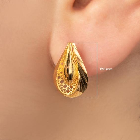 Mücevher Dünyası - 22 Ayar Altın Küpe - 3,45 Gr.