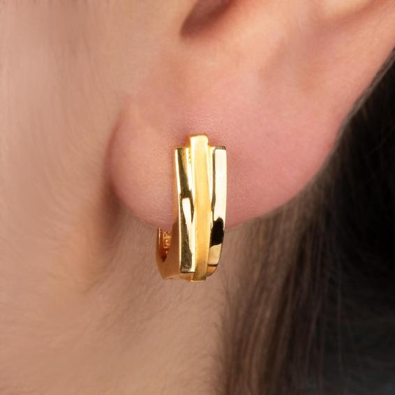 Mücevher Dünyası - 22 Ayar Altın Küpe - 5,10 Gr.