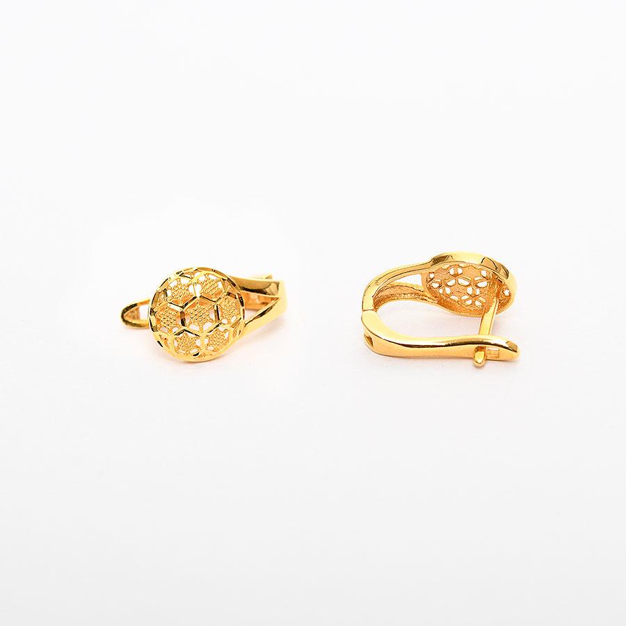 Mücevher Dünyası - 22 Ayar Altın Küpe - 4.28 Gr.