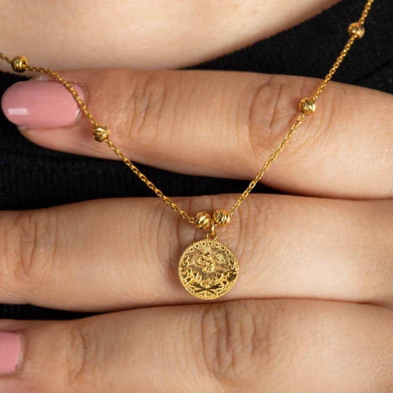Mücevher Dünyası - 22 Ayar Altın Reşatlı Dorika Kolye - 4,02 Gr.