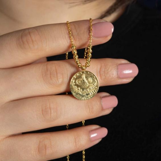 Mücevher Dünyası - 22 Ayar Altın Reşatlı Dorika Kolye - 7,64 Gr.